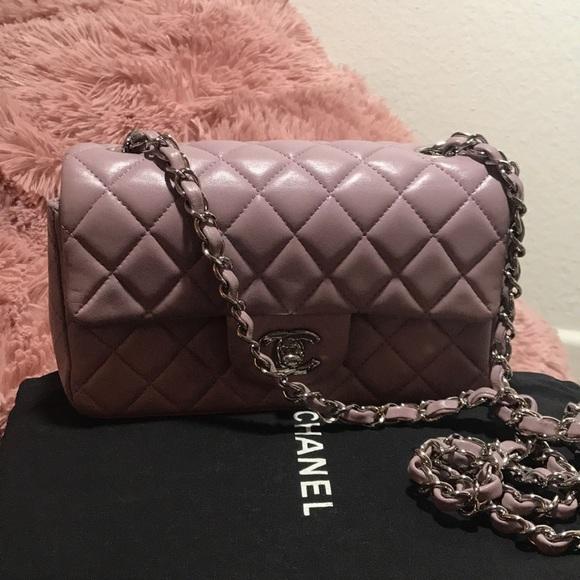 75bc41fdcfd1 CHANEL Bags | Lavender Pink Rectangular Mini Flap Bag | Poshmark